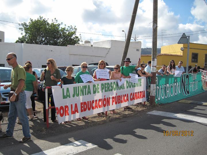 Protesta Junta de Personal