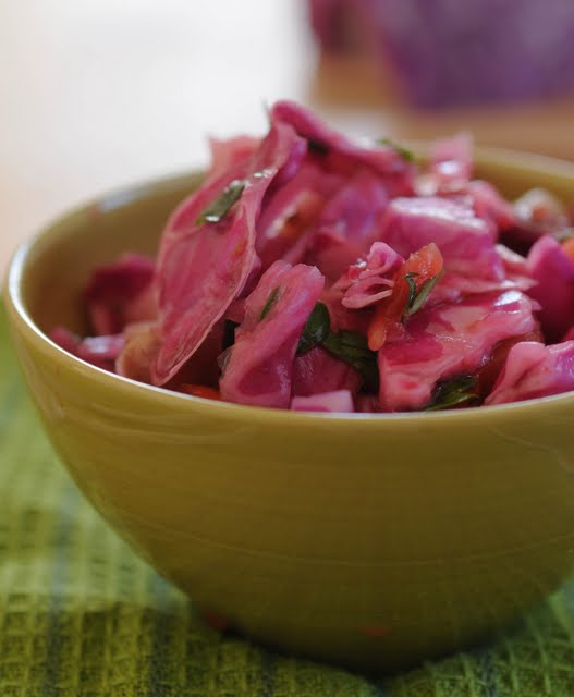 cabbage salad, red