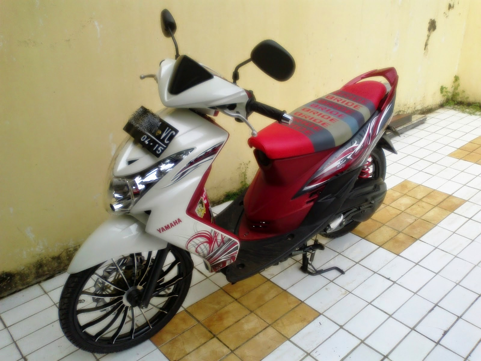 contoh modifikasi mio velg 17 racing