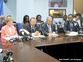 Conférence de presse animée par Mary Robinson, l'envoyée spéciale du secrétaire général de l'Onu pour la région des Grands Lacs le 4/09/2013 à Kinshasa. Radio Okapi/Ph. John Bompengo