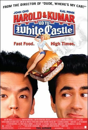 Poster Of Harold & Kumar Go to White Castle (2004) Full Movie Hindi Dubbed Free Download Watch Online At Alldownloads4u.Com