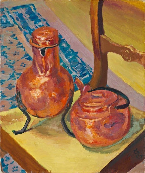 Giovanni Giacometti - A Still Life of Copper on a Chair, 1932