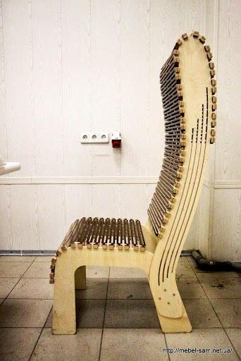 Кресло из гнутой фанеры - общий вид