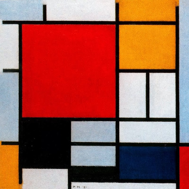 Piet Mondrian - Composition with Large Red Plane, Yellow, Black, Gray and Blue, 1921
