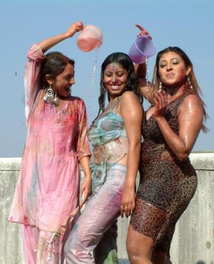 Hot Photos Sexy Actresses Playing Holi Pictures