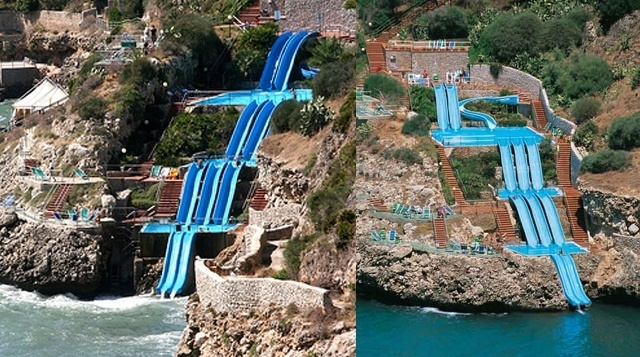 Water Slides Into The Sea