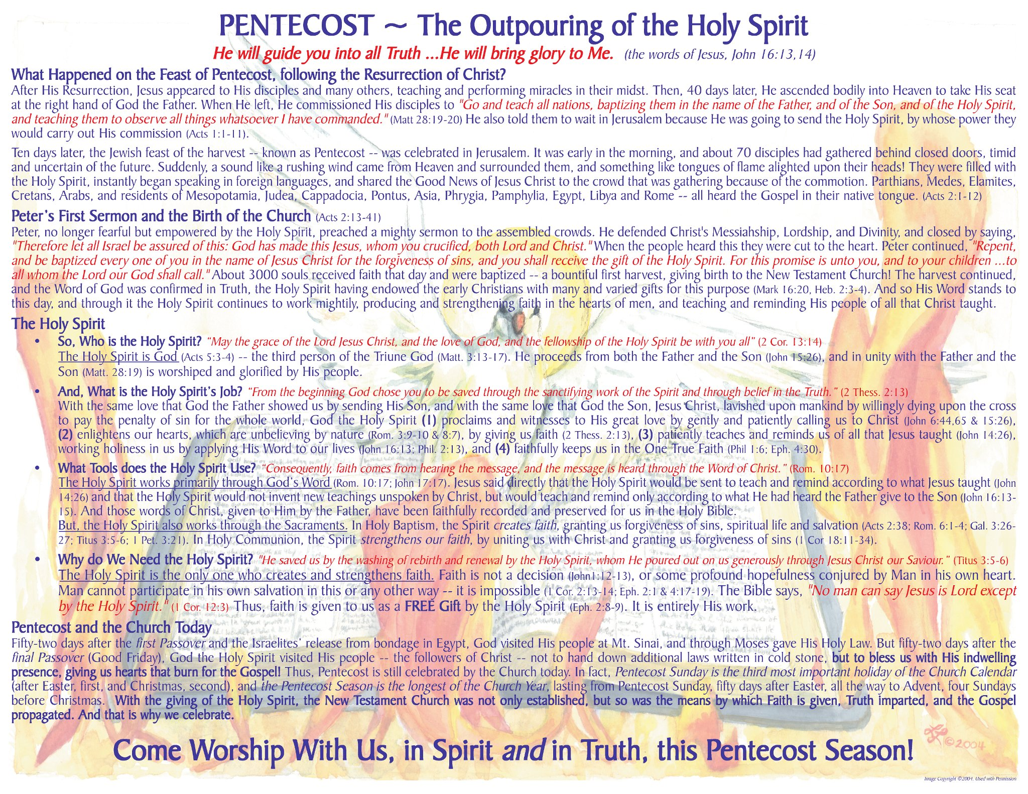 The Church Calendar and Evangelism: Pentecost