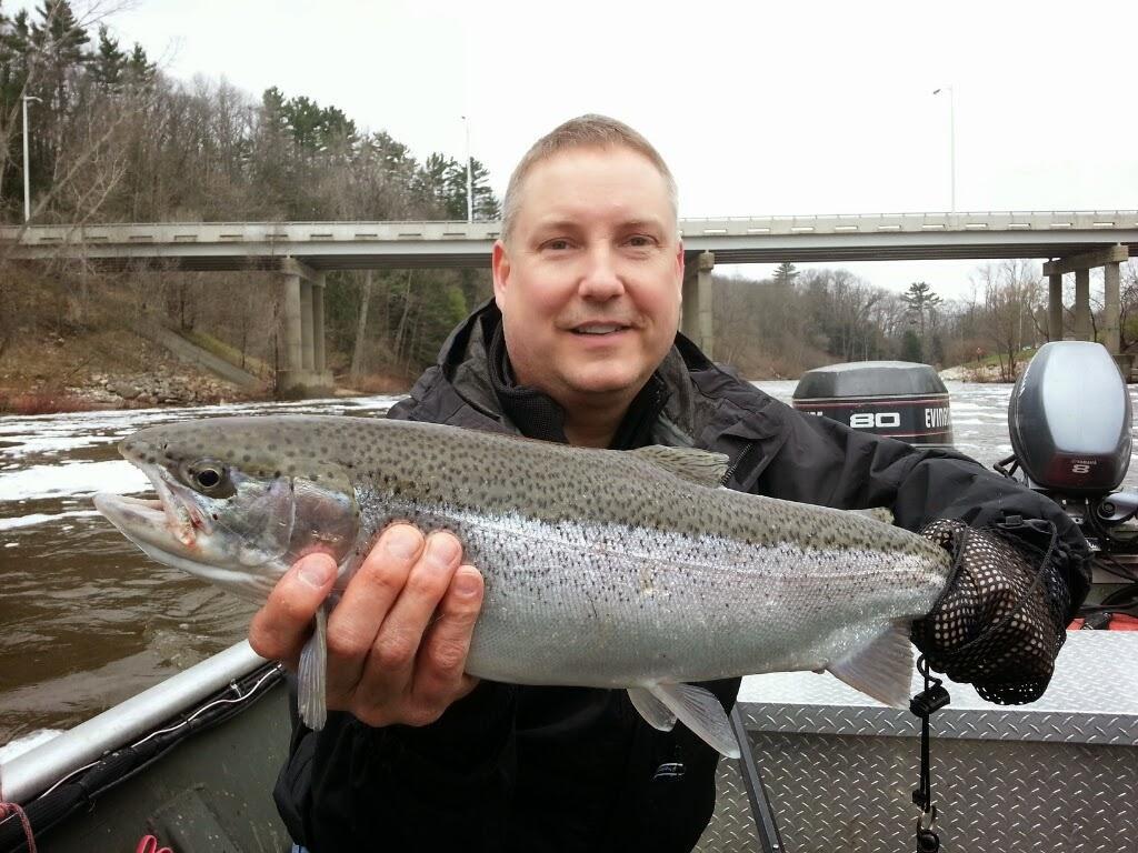 steelhead fishing on the muskegon river