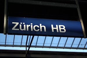 Zurich Train Station Sign