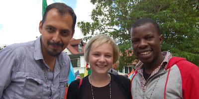 Three Spanish Speakers attending LittWorld 2012 from Mexico, Russia & Kenya. photo by Ian Darke