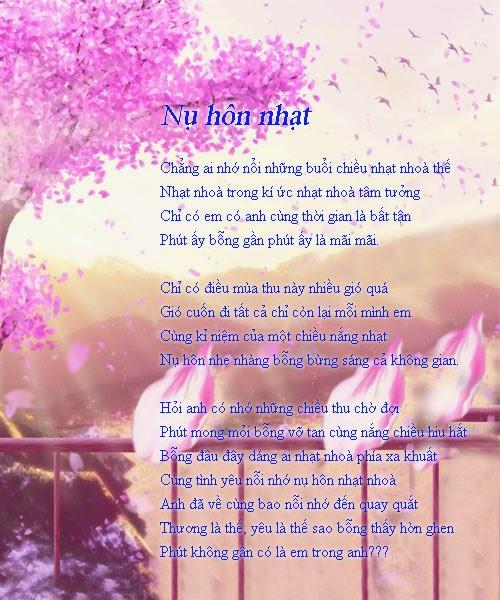 Bài thơ tình yêu hay và hình ảnh cực đẹp
