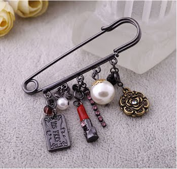 Eazy Fashion: Your One Stop Wholesale and Retail Fashion Shop | SAFETY PIN & CHARMS BROOCH