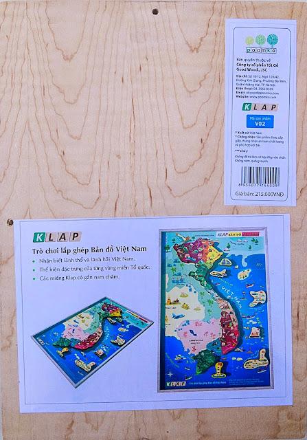 Klap lắp ghép bản đồ Việt Nam V02 với chất liệu gỗ an toàn
