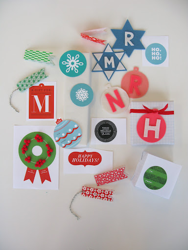 More tag development.  I love the large Martha Stewart Craft snowflake punch.  It didn't make our story, but it was used to make beautiful ornaments in Good Things.