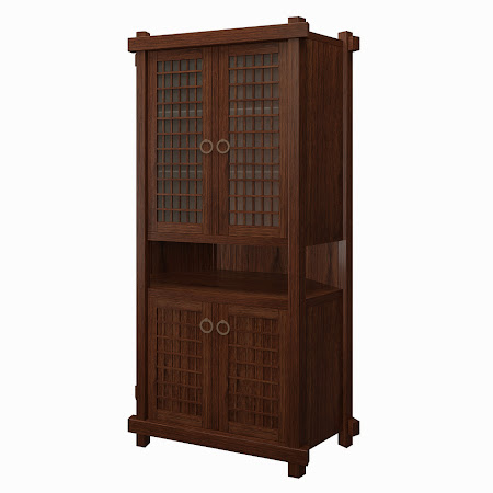 Tansu Corner Cabinet in Temperance Walnut