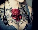 skull-and-roses-tattoo-design-idea11
