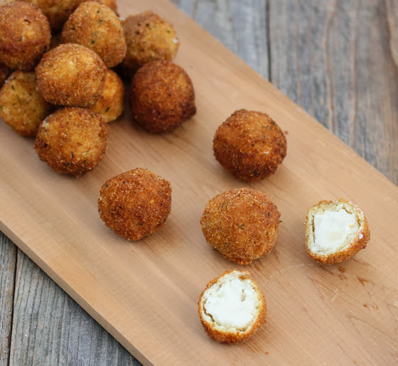 photo of Fried Mashed Potato Balls scattered on a board