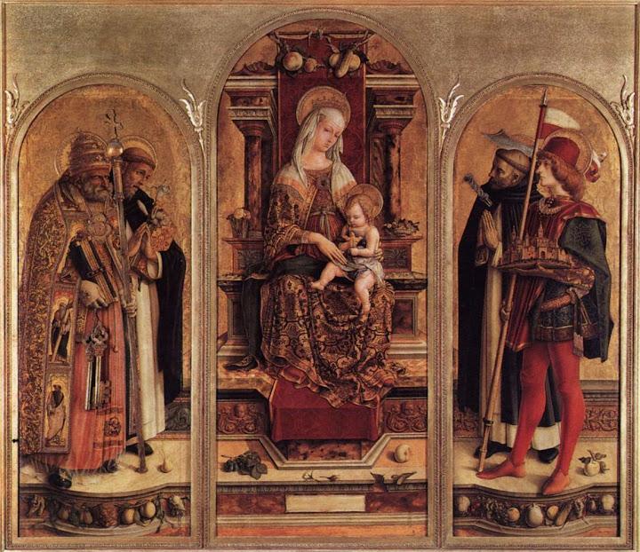 Carlo Crivelli - Triptych of Camerino