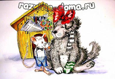 Котаус и фурсик - художники. сказка