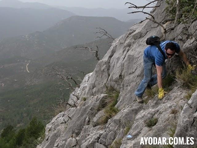 Trepando por la laderas de Saganta