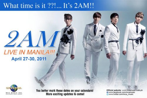 2AM Live in Manila!, It was confirmed at MCA Music's official Facebook Like Page