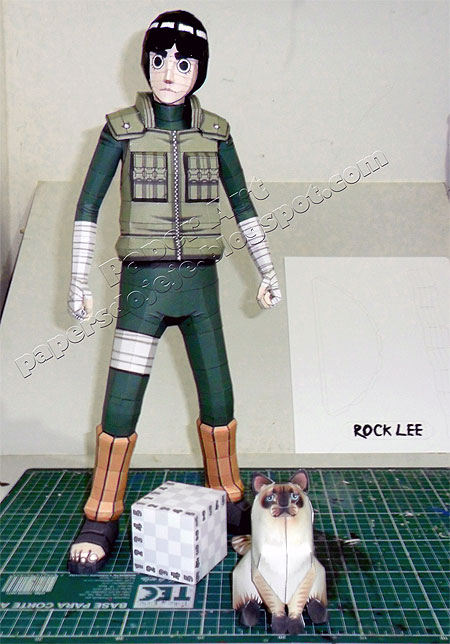 Naruto Rock Lee Paper Model v2