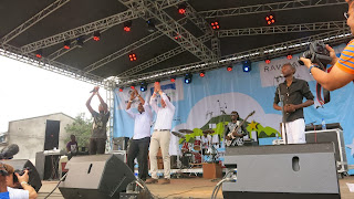 Le patron de la Monusco, Martin Kobler sur le podium du Festival Amani, à Goma (Nord-Kivu). Photo Monusco.