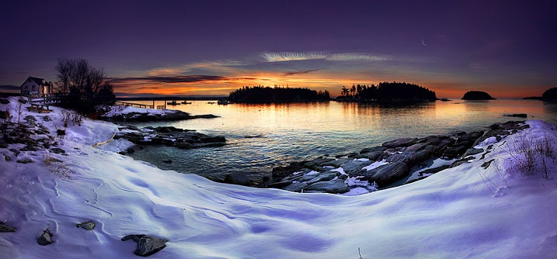Photo by travel photographer Christopher O'Donnell: Five Islands in Georgetown, Maine