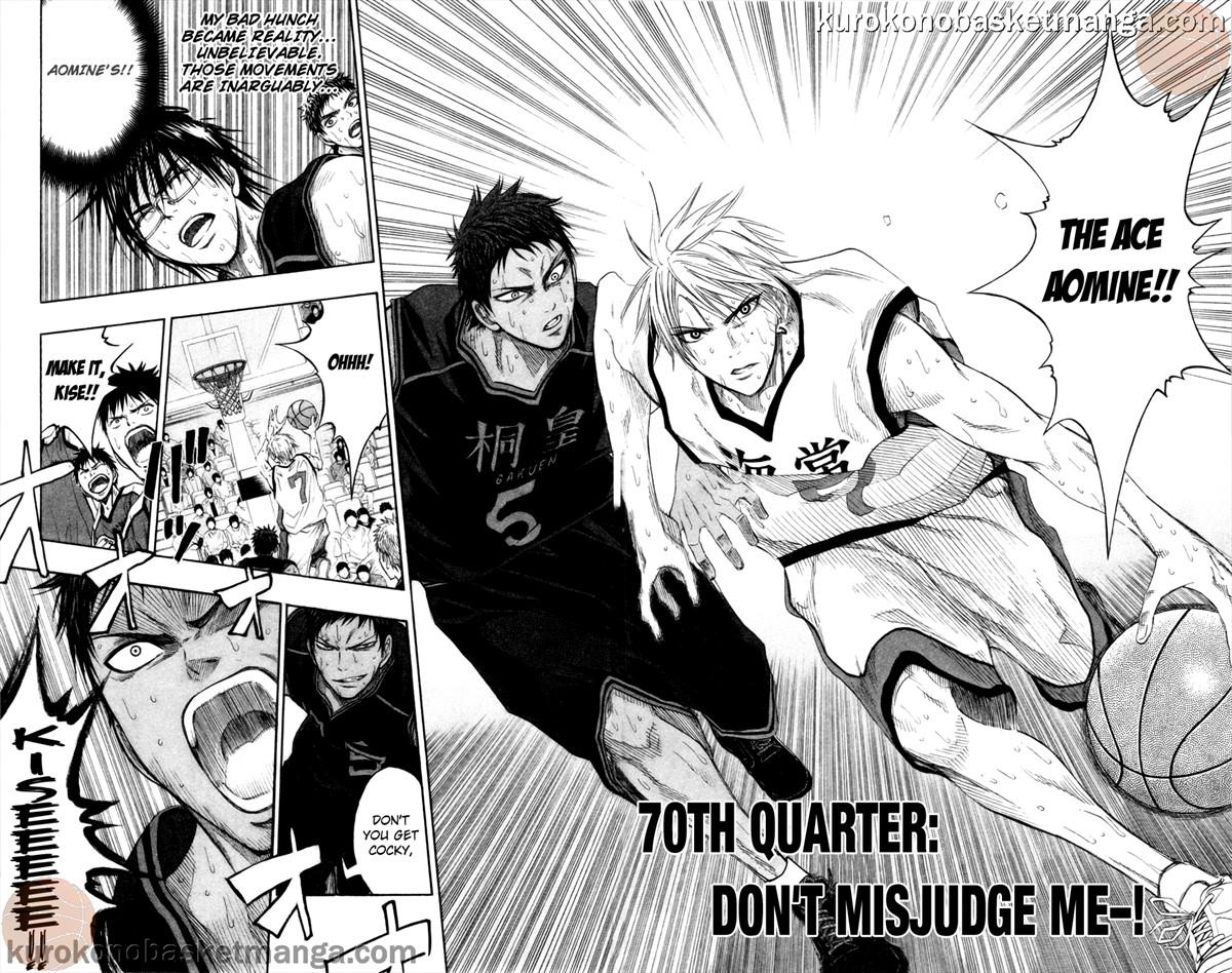 Kuroko no Basket Manga Chapter 70 - Image 0/2-3