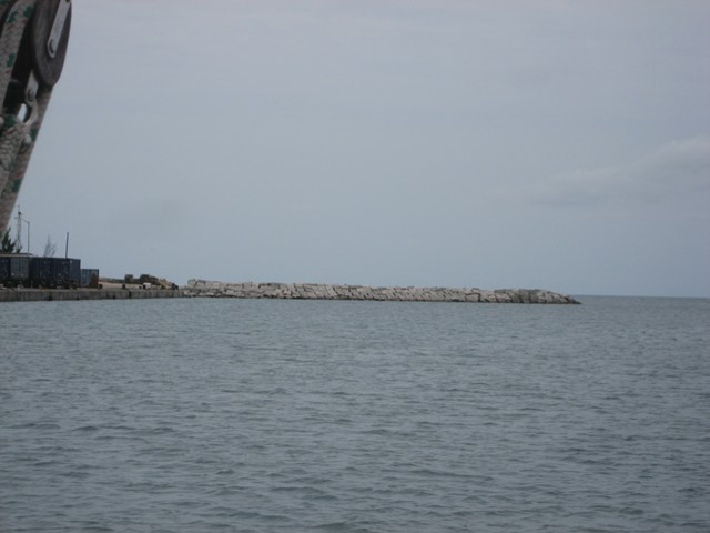 jetty breakwater at Governor's Harbour mouth