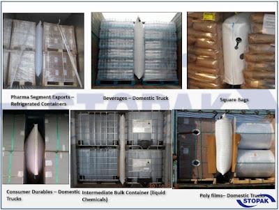 Túi khí chèn hàng trong container