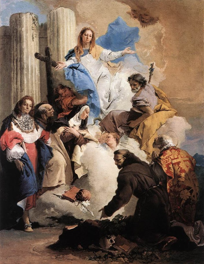 Giovanni Battista Tiepolo - The Virgin with Six Saints