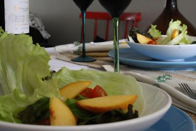 Salada com Pêssego! 1