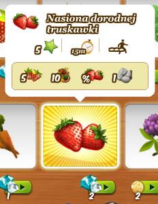Nasiona dorodnej truskawki