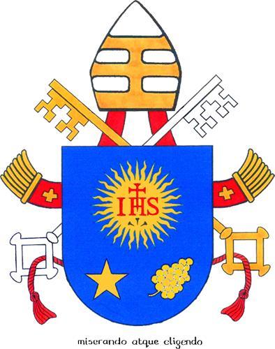 Stemma e motto di papa Francesco