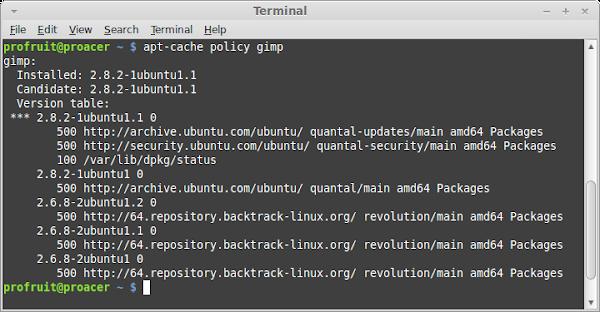 LinuxMint terminal