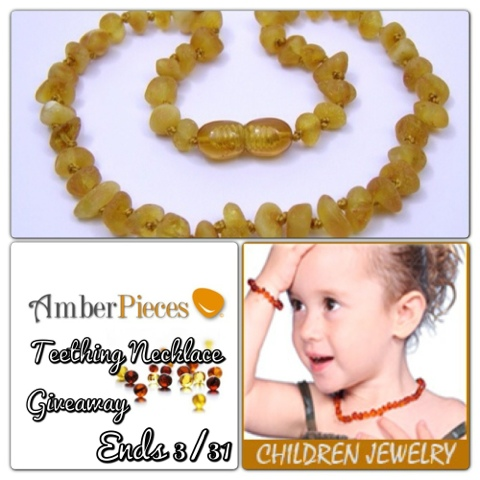 Amber Pieces Baltic Amber Teething Necklace Review and Giveaway