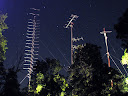 144 MHz, 50 MHz and microwave towers @ night