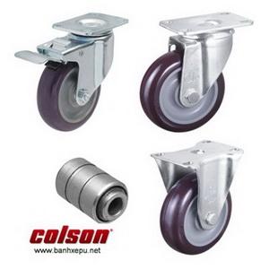 Bánh xe PU càng bánh xe đẩy mạ kẽm chịu tải trọng (82~122kg)