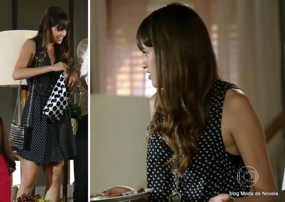 moda da novela Em Família - look da Gisele dia 01 de maio