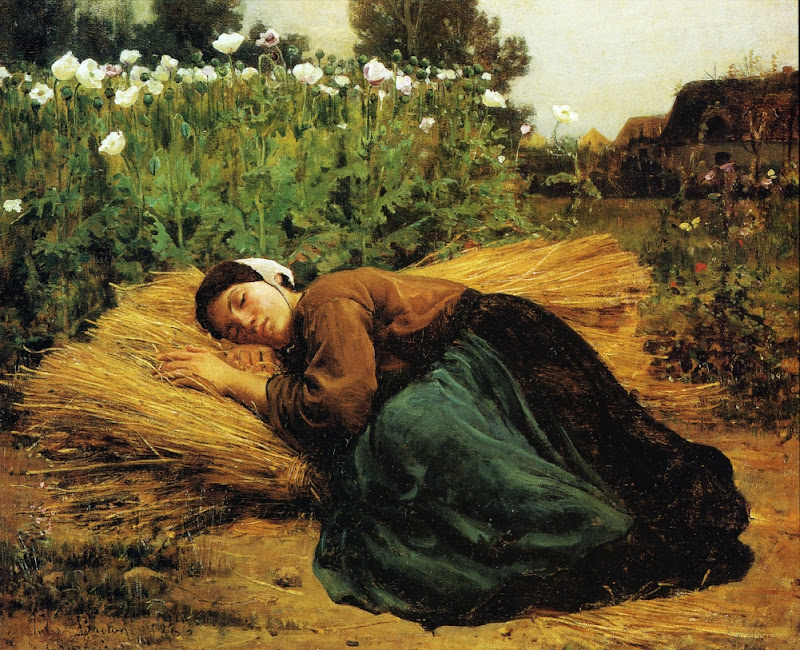 Jules Breton - A Rest in the Fields