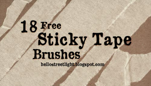 18 Free Sticky Tape Photoshop Brushes