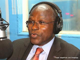 Moustapha Soumare, DSRSG le 23/10/2014 au studio de Radio Okapi à Kinshasa/ Photo John Bompengo