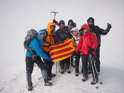 El grup al cim de l'Ararat
