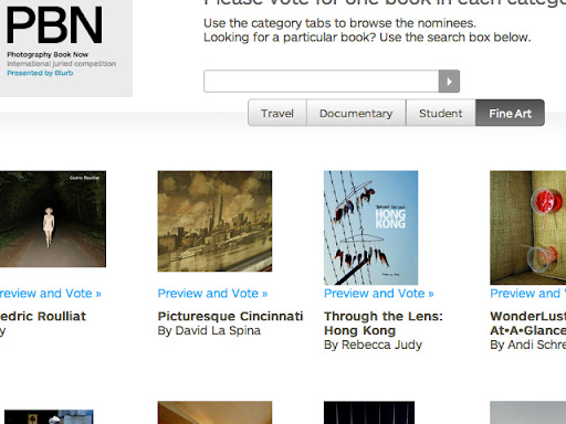 Screenshot of blurb.com