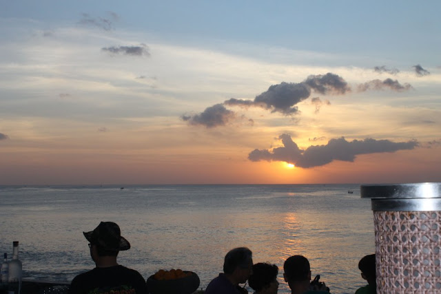 sunset at rock bar bali