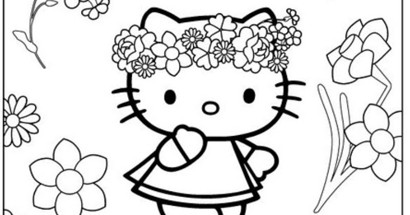 Hello kitty hippie free coloring pages coloring pages Hippie animals coloring book