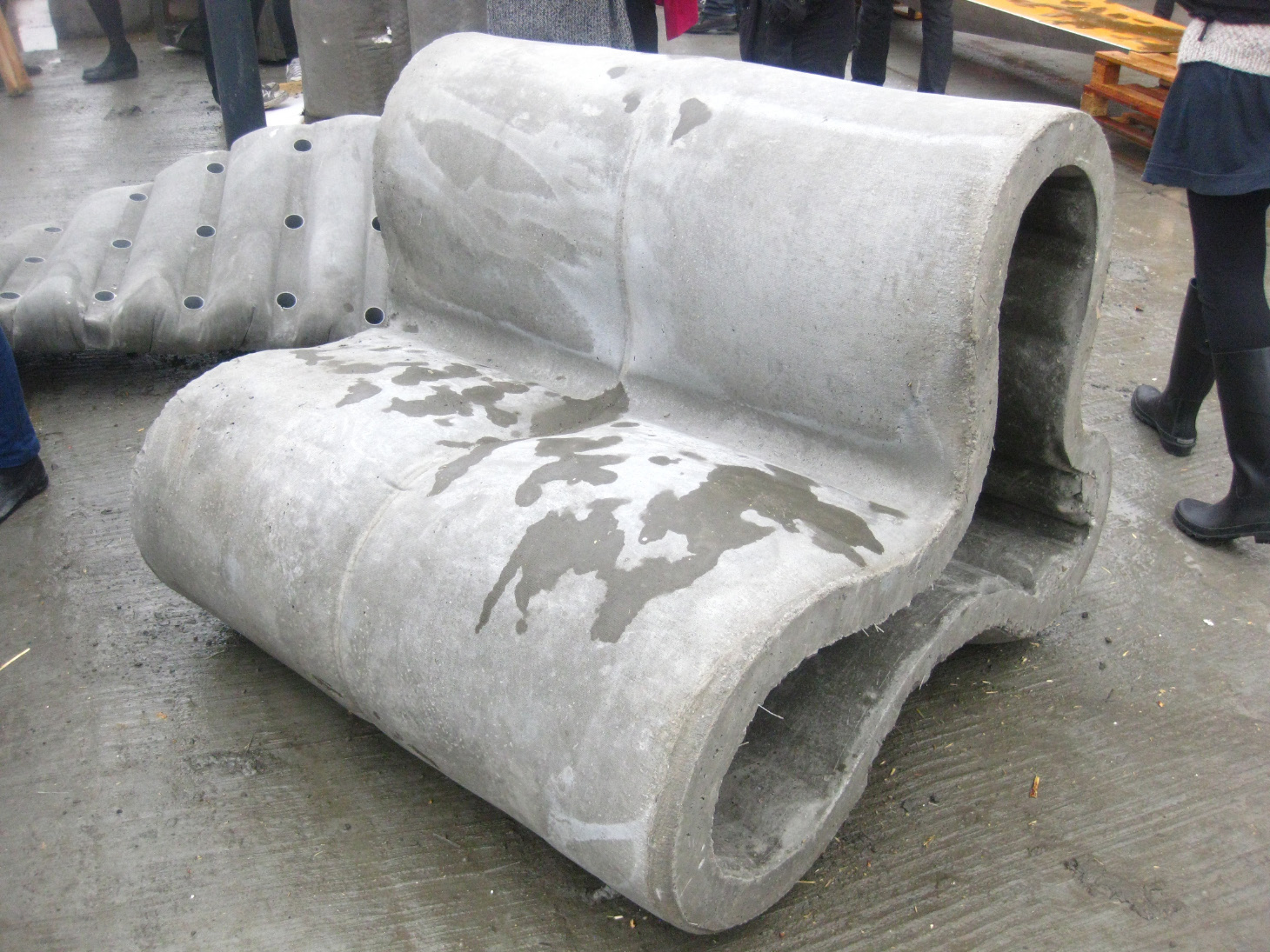 Concretely Concrete Benches Cast In Fabric