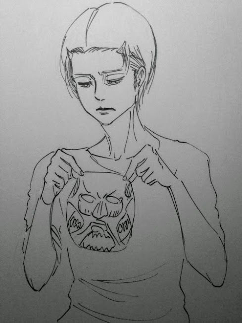 Attack on Titan Levi Face Mask Isayama Sketch