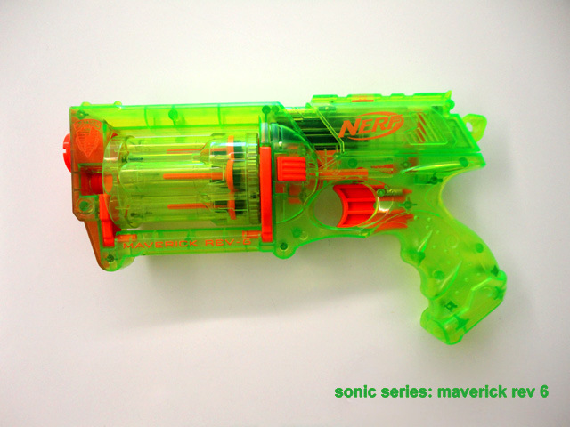... awesome see-through-green-plastic re-make-over of the gun,i don't know  if it's just my head, but i think that it's stronger then the normal  maverick…so ...